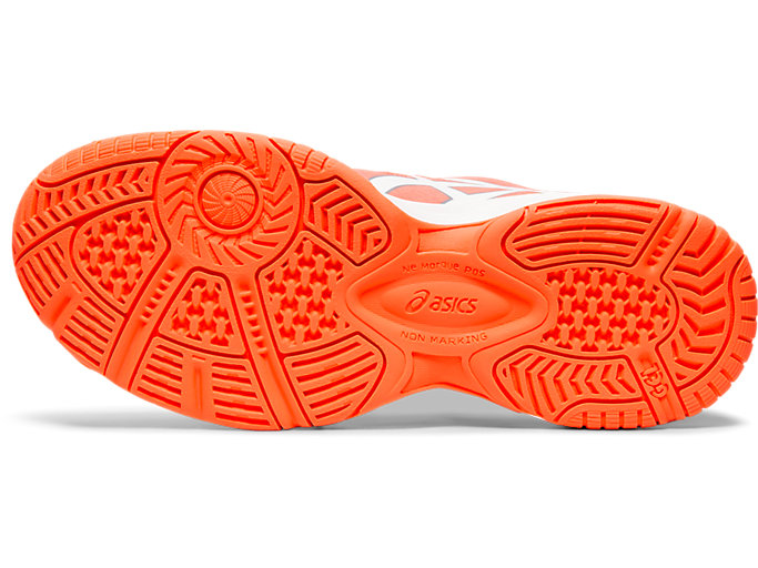 Bottom view of GEL-PADEL PRO 3 GS, FLASH CORAL/WHITE