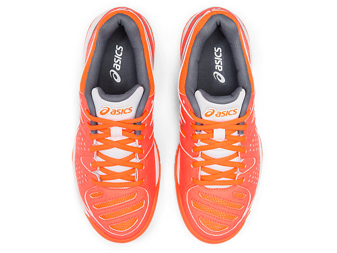 Top view of GEL-PADEL PRO 3 GS, FLASH CORAL/WHITE
