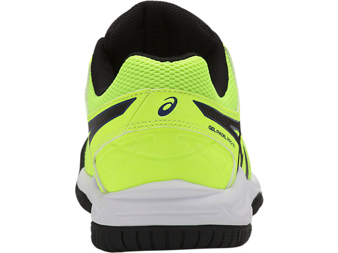 Back view of GEL-PADEL PRO 3 GS, FLASH YELLOW/BLACK