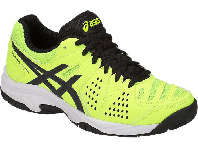 Front Right view of GEL-PADEL PRO 3 GS, FLASH YELLOW/BLACK