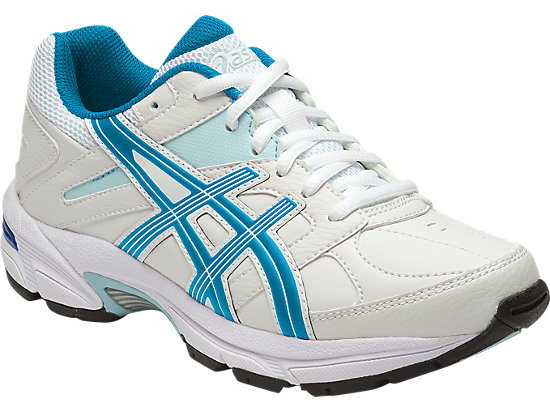 GEL-190TR GS - LEATHER WHITE/IMPERIAL/BLUE GLOW 3