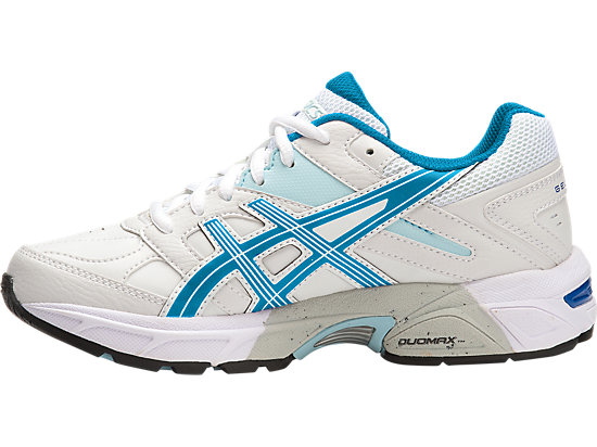 GEL-190TR GS - LEATHER WHITE/IMPERIAL/BLUE GLOW 11
