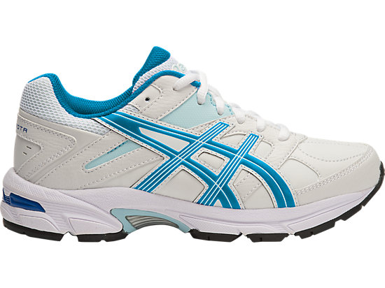 GEL-190TR GS - LEATHER WHITE/IMPERIAL/BLUE GLOW 15