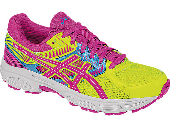 GEL-Contend 3 GS Flash Yellow/ Hot Pink/Turquoise 7