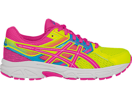 GEL-Contend 3 GS Flash Yellow/ Hot Pink/Turquoise 3