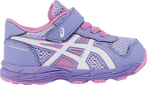 Asics Bounder Petal Pink/White/Violet Running Shoes For Kids