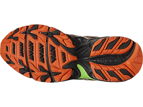 GEL-VENTURE 5 GS BLACK/FLAME ORANGE/GREEN GECKO 7