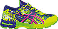 GEL-Noosa Tri 11 PS:Safety Yellow/Pink Glow/ASICS Blue