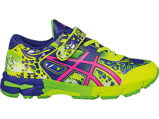 GEL-Noosa Tri 11 PS Safety Yellow/Pink Glow/ASICS Blue 3