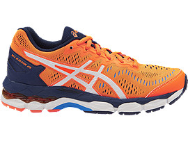 GEL-KAYANO 23 GS, Shocking Orange/White/Indigo Blue
