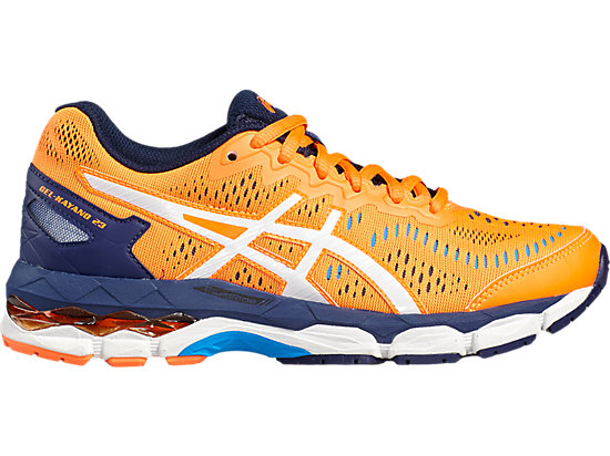 GEL-KAYANO 23 GS SHOCKING ORANGE/WHITE/INDIGO BLUE 3