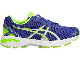 GT-1000 5 GS, ASICS BLUE/WHITE/GREEN GECKO