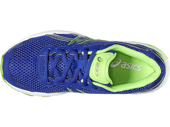 GT-1000 5 GRADE SCHOOL ASICS BLUE/WHITE/GREEN GECKO 19