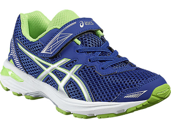 GT-1000 5 GRADE SCHOOL ASICS BLUE/WHITE/GREEN GECKO 7