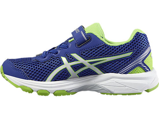 GT-1000 5 GRADE SCHOOL ASICS BLUE/WHITE/GREEN GECKO 11