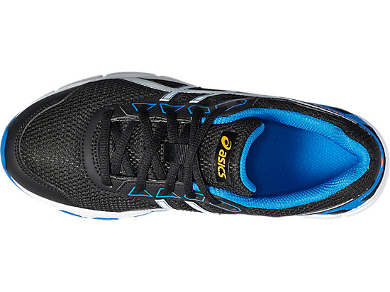 GEL-GALAXY 9 GS BLACK/WHITE/ELECTRIC BLUE 15