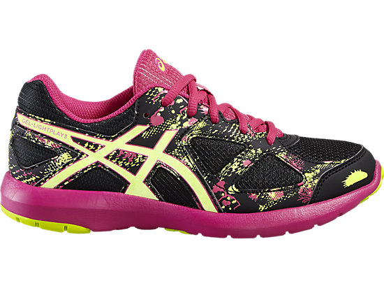 GEL-LIGHTPLAY 3 GS BLACK/SAFETY YELLOW/SPORT PINK 3