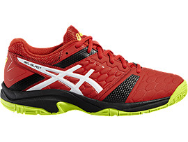 GEL-BLAST 7 GS, Vermilion/White/Safety Yellow