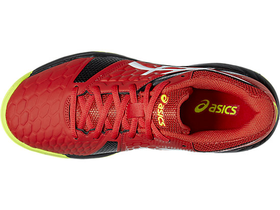 GEL-BLAST 7 GS VERMILION/WHITE/SAFETY YELLOW 19
