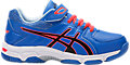 GEL-540TR PS LEATHER:REGATTA BLUE/BLACK/FLASH CORAL