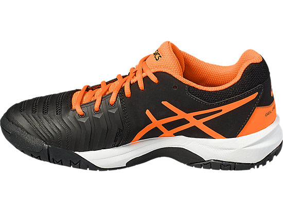 GEL-RESOLUTION 7 GS BLACK/SHOCKING ORANGE/WHITE 7