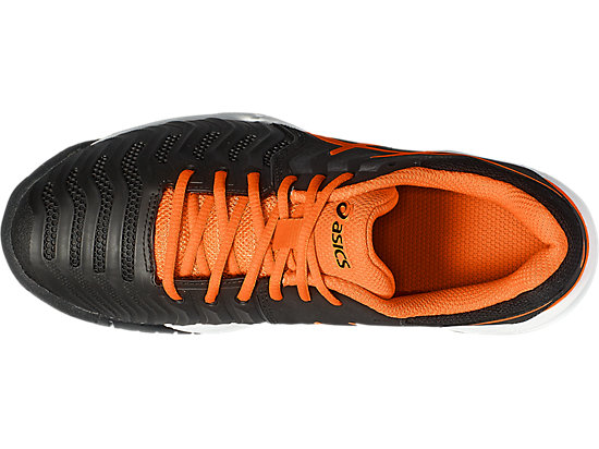 GEL-RESOLUTION 7 GS BLACK/SHOCKING ORANGE/WHITE 15