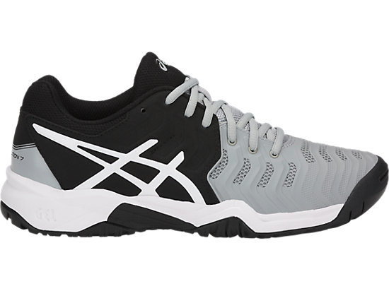 GEL-RESOLUTION 7 GS, MID GREY/BLACK/WHITE