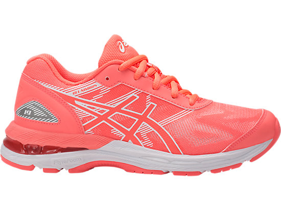 GEL-NIMBUS 19 GS FLASH CORAL/WHITE/FLASH CORAL