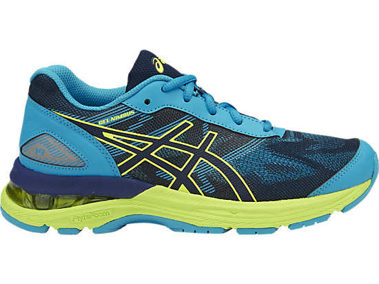 GEL-NIMBUS 19 GS, INDIGO BLUE/SAFETY YELLOW/ISLAND BLUE