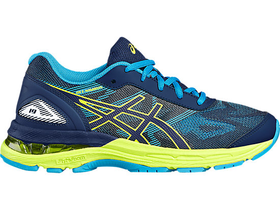 GEL-NIMBUS 19 GS pour enfants INDIGO BLUE/SAFETY YELLOW/ISLAND BLUE 3