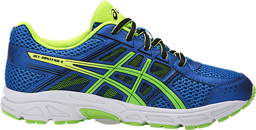 asics blue and green