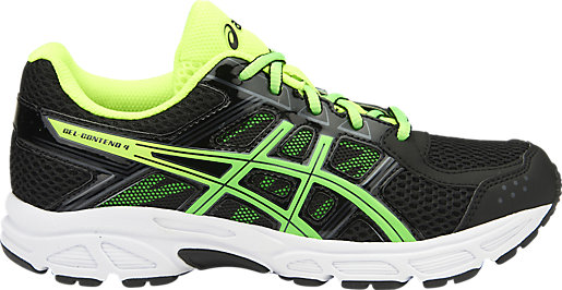 black and green asics
