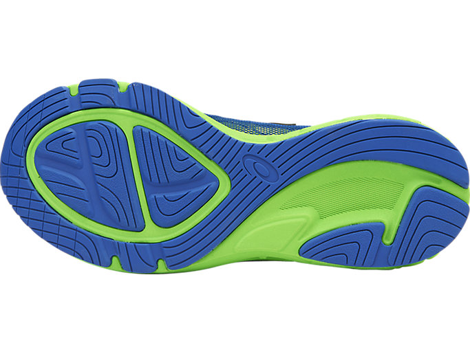 Bottom view of Noosa GS, IMPERIAL/GREEN GECKO/SAFETY YELLOW
