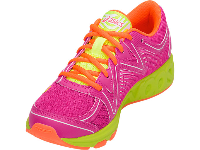 Front Left view of Noosa GS, PINK GLO/FLASH YELLOW