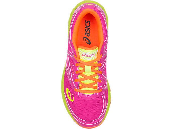Top view of Noosa GS, PINK GLO/FLASH YELLOW