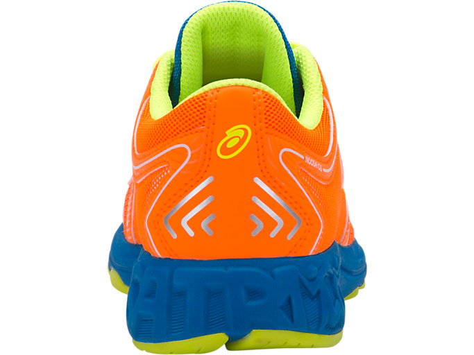 Back view of NOOSA GS, SHOCKING ORANGE/FLASH YELLOW