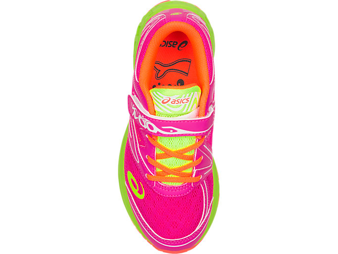 Top view of Noosa PS, PINK GLO/FLASH YELLOW