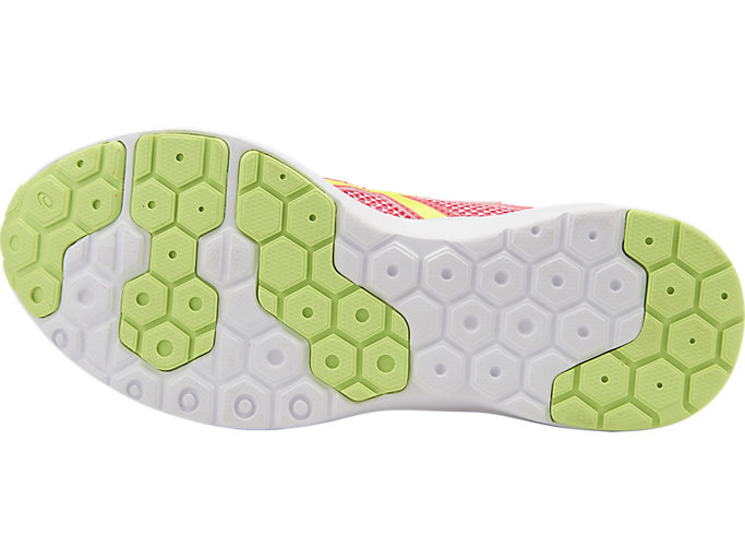 Bottom view of FUZEX LYTE 2 GS, Diva Pink/Safety Yellow/White