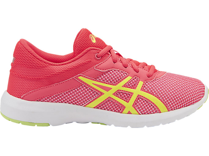 Right side view of FUZEX LYTE 2 GS, Diva Pink/Safety Yellow/White