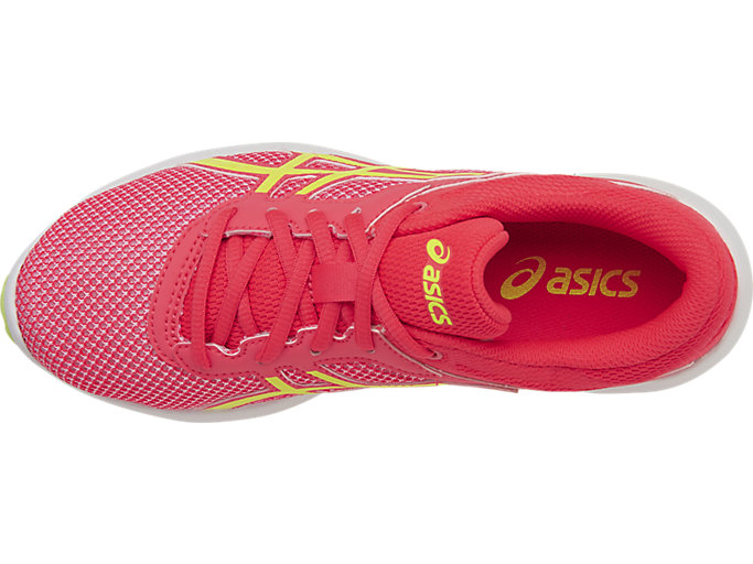 Top view of FUZEX LYTE 2 GS, Diva Pink/Safety Yellow/White