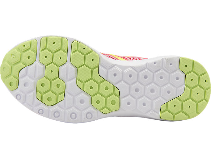 Bottom view of fuzeX Lyte 2 PS, DIVA PINK/SAFETY YELLOW/WHITE