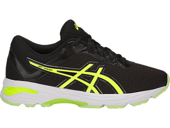 ASICS GT-1000 6 - Stabilty running shoes - black/safety yellow/black vuXEwXYFO