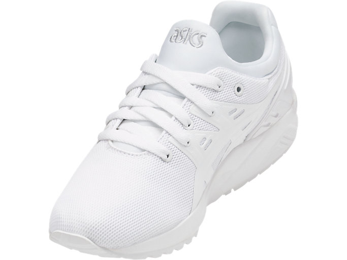 Front Left view of GEL-KAYANO TRAINER EVO GS, WHITE/WHITE