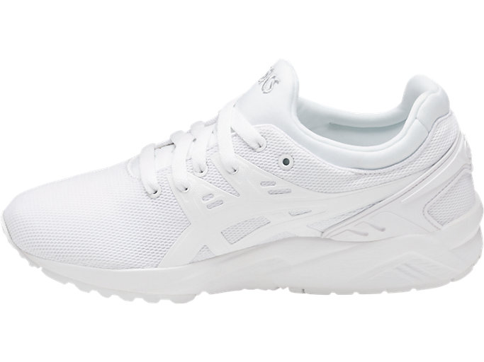 Left side view of GEL-KAYANO TRAINER EVO GS, WHITE/WHITE