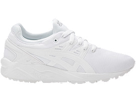 Right side view of GEL-KAYANO TRAINER EVO GS, WHITE/WHITE