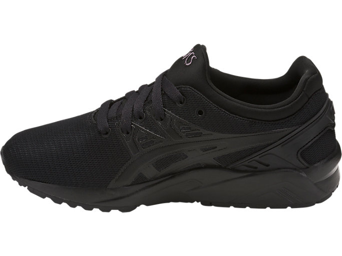 Left side view of GEL-KAYANO TRAINER EVO GS, BLACK/BLACK