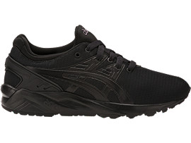 Right side view of GEL-KAYANO TRAINER EVO GS, BLACK/BLACK
