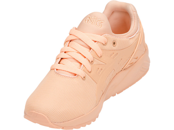 Front Left view of GEL-KAYANO TRAINER EVO GS, APRICOT ICE/APRICOT ICE
