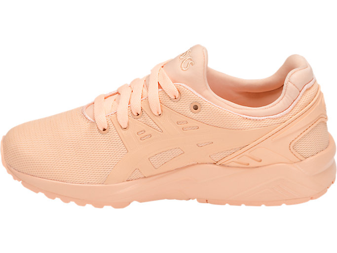 Left side view of GEL-KAYANO TRAINER EVO GS, APRICOT ICE/APRICOT ICE