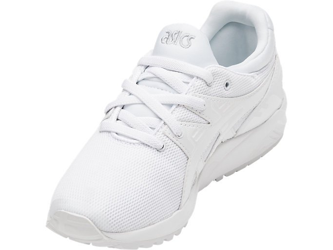 Front Left view of GEL-KAYANO TRAINER EVO PS, WHITE/WHITE